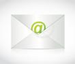 envelope and at symbol illustration design