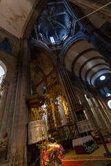 Inside of the Santiago de Compostela Cathedral