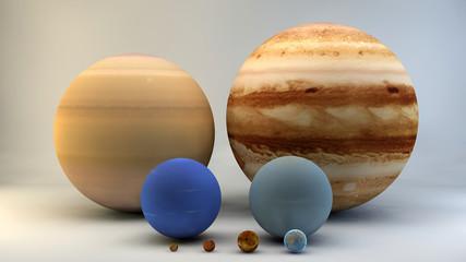 Sistema solare pianeti rapporto grandezze dimensioni