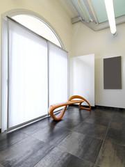 sala di aspetto moderna con poltrona