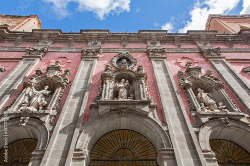 Madrid - Facade of baroque church San Millan e San Cayetano.