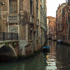 Venice, Italy . Typical urban view in the evening