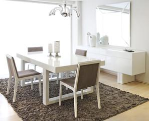 sunny modern dining room