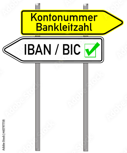 Wegweiser - Kontonummer / IBAN BIC