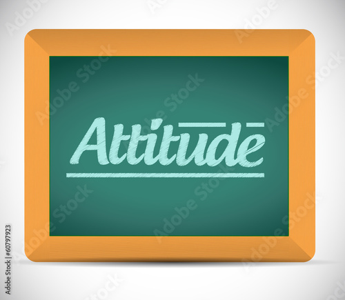attitude chalkboard illustration design