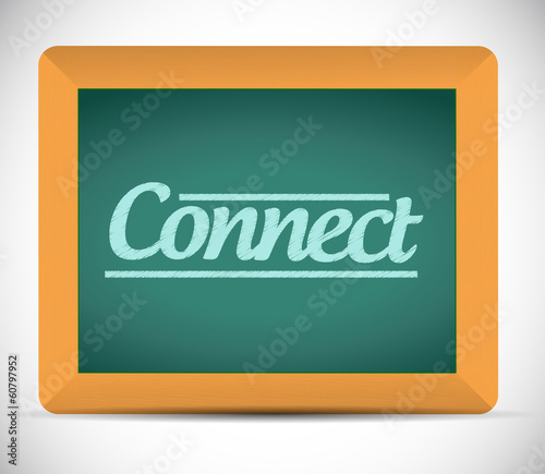 connect chalkboard illustration design
