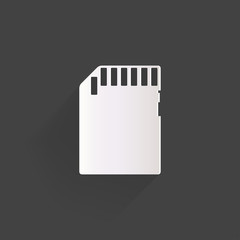 compact memory card icon
