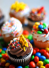 cake, cupcake and sweet pastry (delicious dessert)