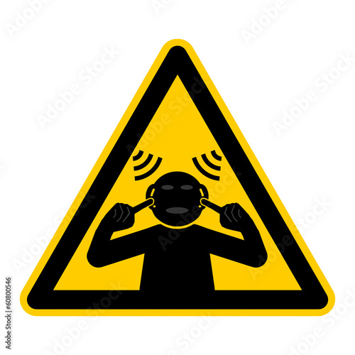 symbol for high noise level - german laute Umgebung g470