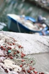 reti da pesca in porto