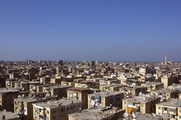 Roofs of slum housing in Damietta,Egypt