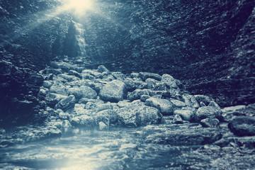 waterfall gorge