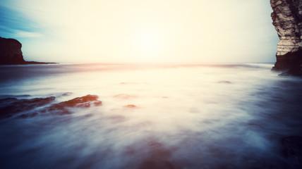 blurry sea