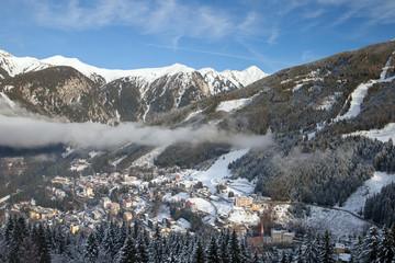 Panoramic view on Bad Gostein, Salzburgerland, Austria