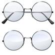 round transparent glasses - 60803733