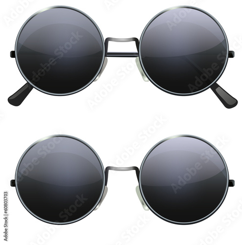 round black glasses - 60803703