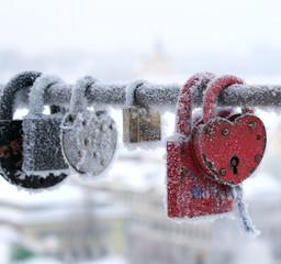 frozen locks, some heart-shaped