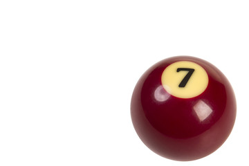 billiard ball isolated on white background