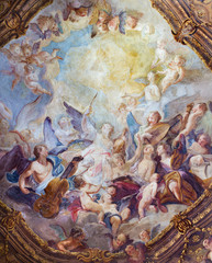 Vienna - Baroque angel choirs fresco from  Michaelerkirche