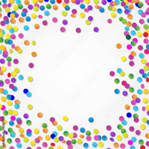 Colorful Confetti Border
