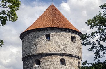 The head of fortress tower