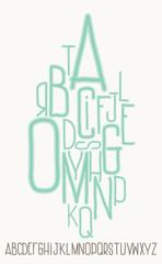 Сapital alphabet letters