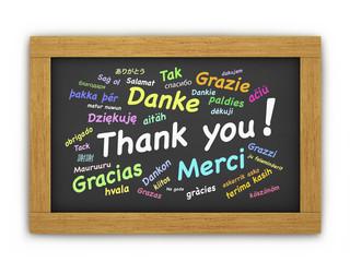 International Thank You Chalkboard