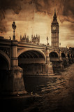 Aged Vintage Retro Picture of Big Ben in London - 60805577