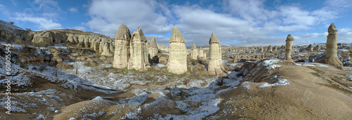 Panorama of Gorcelid Valley in Cappadocia, Turkey
