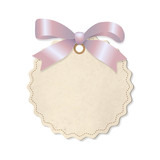 Pastel Label With Pink Ribbon