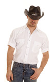 cowboy white shirt thumb pocket