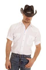 cowboy white shirt thumb pocket
