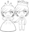 Prince and Princess Coloring Page 3