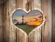 Leuchtturm Westerhever Herz