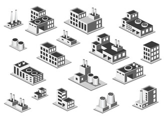 isometric icon set factory