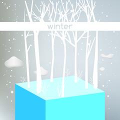 Winter season forest landscape