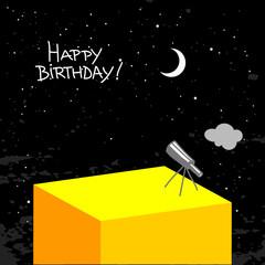 night sky happy birthday card