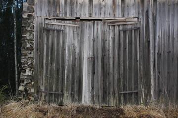 old hay barn door