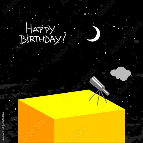 night sky happy birthday card