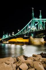 Szabadsag, Liberty Bridge in Budapest, Hungary