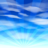 Vector EPS10 Blue Sky background
