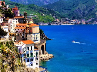 Beautiful village of Atrani along the Amalfi Coast, Italy