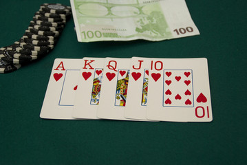 Royal Flush in a Poker Game