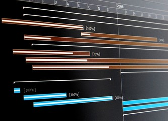 A Gantt chart is a type of bar chart that illustrates a project