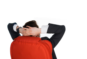 Successful relaxed businessman