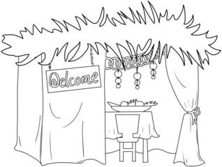 Sukkah For Sukkot Coloring Page