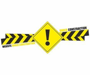 Website under construction sign