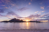 Sunset over Bora Bora