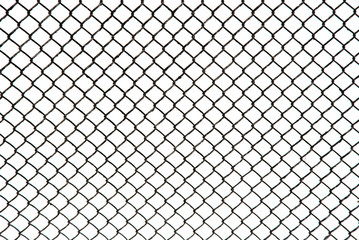 metal grid on a white background