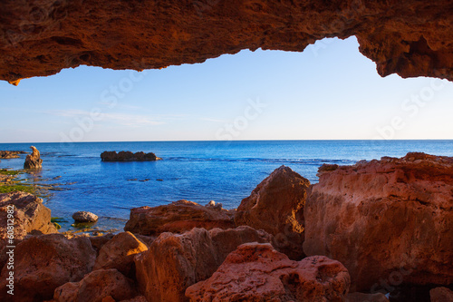 Denia Las Rotas from the caves and Mediterranean sea Poster